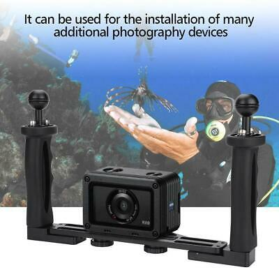 Aluminum Tray + Dual Handle Grips For Underwater Camera Housing Case Accessory • 49.03£