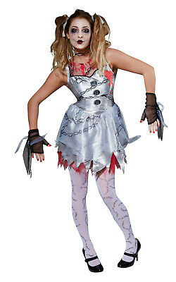 Halloween Ladies Horror Spooky Dead Doll Fancy Dress Costume Outfit SMALL Rubies • 8.99£