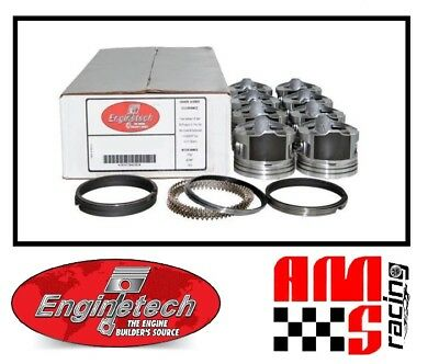 $230 • Buy Coated Skirt Flat Top Pistons W Moly Rings For 1999-2004 Chevrolet Gen III 5.3L