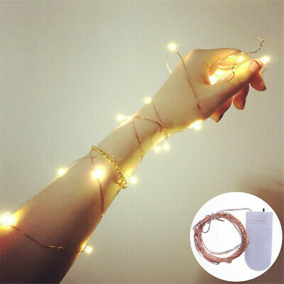 £3.35 • Buy 50LED /30 LED Battery Micro Rice Wire Silver Fairy String Lights Party Decor Hot