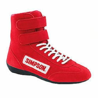 $99.95 • Buy Simpson 28110RD Hi Top Design Racing Driving Shoe Size 11 Red SFI 3.3/5 Approved