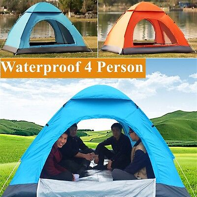 £26.99 • Buy Large Camping Tent 4 Person Man Family Travel Dome Big Festival Group Waterproof