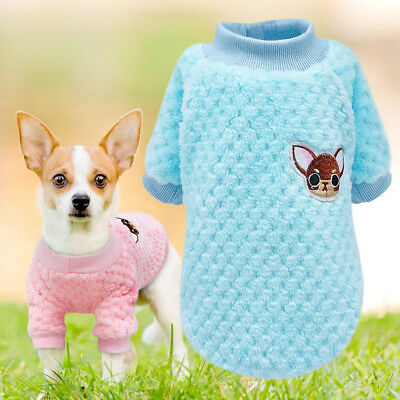 £5.66 • Buy Embroidered Chihuahua Dog Clothes Sweater Knit Soft Fleece Padded Jumper Yorkie