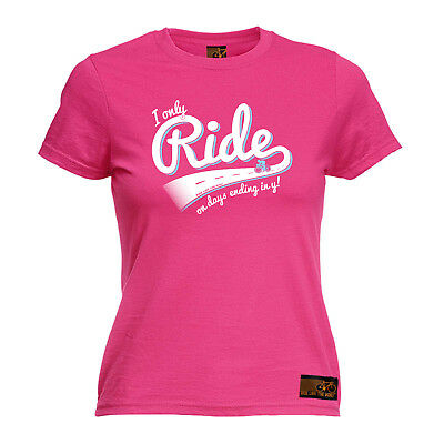Cycling Tops T-Shirt Funny Novelty Womens Tee TShirt - I Only Ride On Days Endin • 11.96£