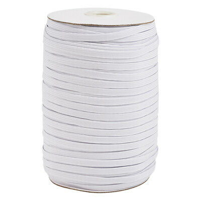 $ CDN38.91 • Buy 200yds/Roll Flat Elastic Cords Stretchy Threads Cable Strings White Spool 6x1mm