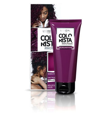 L'Oreal Colorista Burgundy WashOut Semi-Permanent Hair Dye Vivid Colour Red NEW  • 7.19£