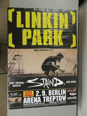 $35 • Buy German Rock Roll Concert Poster Linkin Park With Very Special Guest Staind