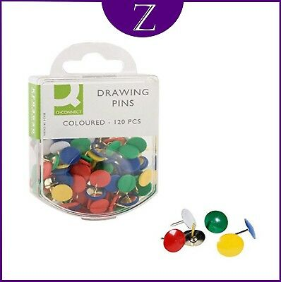 £1.89 • Buy Drawing Pins Coloured In A Box Of 120