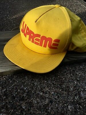 $ CDN63.28 • Buy Supreme Hat 100% Authentic And Rare Find Yellow With Red Writing