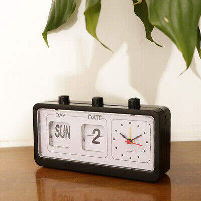 £11.41 • Buy Retro Fashion  Clock Digtal  Day Date Time Display Clock