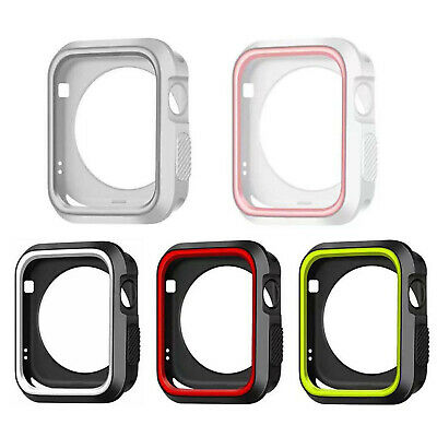 $ CDN4.59 • Buy Dual Colors Silicone Case For Apple Watch Series 5 4 Cover 40/44mm Protect Shell