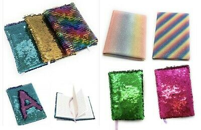 Small A6 Reversible Sequin Notebook Notepad Diary Book Childrens Girls Kids • 3.49£