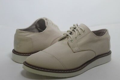 b25f401d0bb TOMS Brogue Mens Natural Cotton Twill Oxford Shoes • 34.99