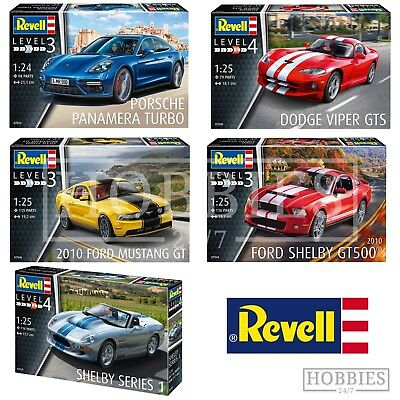 Revell Car Model Kits 1:24 1:25 Porsche Ford Mustang Dodge Viper VW Shelby Sport • 29.99£