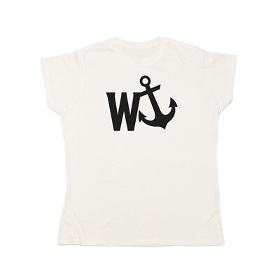 W-Anchor Ladies T-Shirt | Wanker Funny Rude Navy Forces • 11.95£