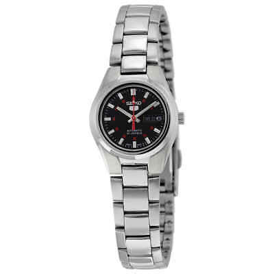 $ CDN95.56 • Buy Seiko 5 Automatic Black Dial Stainless Steel Ladies Watch SYMC27