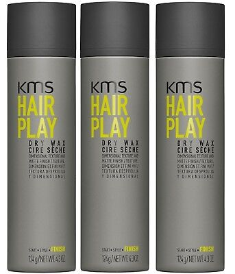 AU73.95 • Buy Kms Hairplay Dry Wax 150 Ml X 3 Hair Play