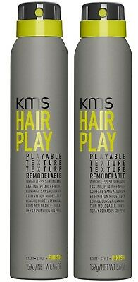 AU51.95 • Buy Kms Hairplay Playable Texture 200 Ml X 2 Hair Play