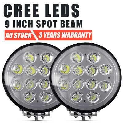 AU107.99 • Buy Pair 9 Inch CREE LED SPOT Driving Lights Round Spotlights Headlight Truck Silver