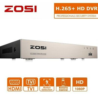 £59.99 • Buy ZOSI 8 Channel 1080p HD H.265+ CCTV DVR Recorder For Security Camera System 2MP