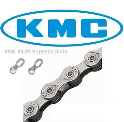AU26.90 • Buy [s] Kmc X9 Chain 9 Speed 116l Bicycle Silver/grey For Shimano & Sram