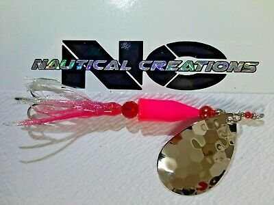 $8 • Buy Salmon Lure 1 Oz MAGNUM Nautical Creations Spinner With 2/0 Mustad Hook