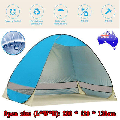AU25.50 • Buy Pop Up Portable Instant Tent Beach Sun Shade Shelter Camping Hiking Canopy Swag