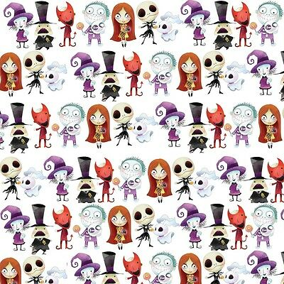 £2.20 • Buy Gorgeous  Nightmare Before Christmas  Printed Canvas Fabric Sheet..hair Bows,