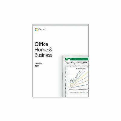 AU299 • Buy MS Office Home And Business 2019 Word Excel Power Outlook Lifetime Licence