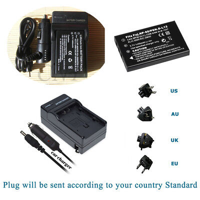 Battery NP-60 +Charger Kits For Drift HD 1080p, HD170, HD170 Stealth, HD720 • 11.99£