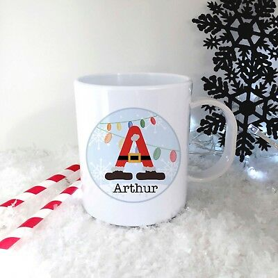 Personalised Santabet Plastic Mug Children's Christmas Gift Juice Cup Any Name • 10.99£
