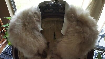 $39 • Buy Vtg. Real Natural Fox Fur Collar, Off White, Scarf, Stole Shawl. Free Shipping