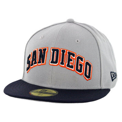 9030570cc6994 New Era 59Fifty San Diego Padres Wordmark 2 Fitted Hat (GY DNV) Men s