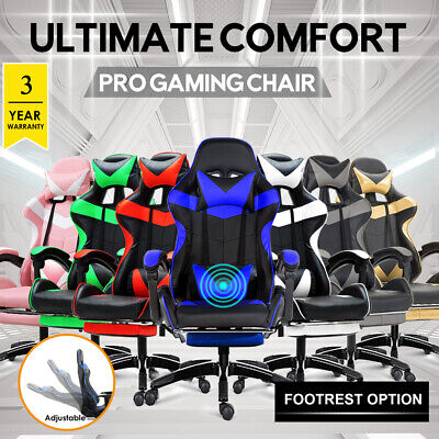 AU139.99 • Buy 【15% Off~$118】Gaming Chair Office Computer Seating Racing PU Massage Recliner