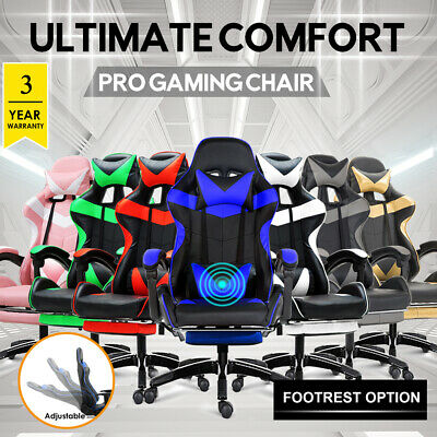 AU139.99 • Buy Gaming Chair Office Computer Seating Racing PU Executive Massage Racer Recliner