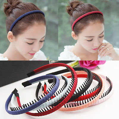 $0.76 • Buy Cloth Headband With Teeth Girls Kids Hair Band For Women Hair Accessories Solid