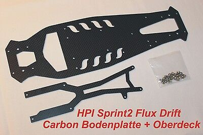 £49.57 • Buy Hpi Sprint 2 Drift Flux Carbon HD Tuning Set 1:10 Upper Deck Base Plate Chassis