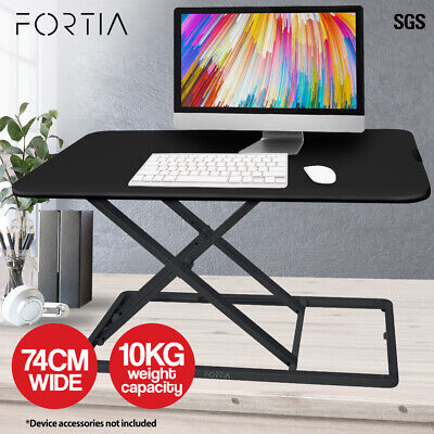 AU139 • Buy FORTIA Desk Riser Office Shelf Standup Sit Stand Height Standing Laptop Study