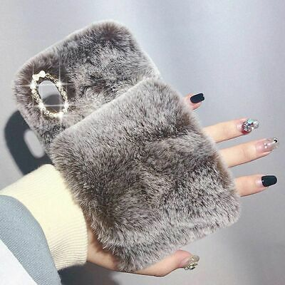Soft Warm Glove Plush Fluffy Phone Case Cover Comfy Faux Fur For Samsung IPhone • 5.79£