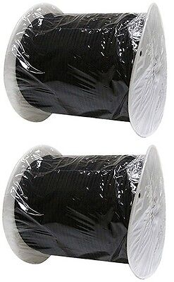 $59.97 • Buy (2) Rolls 5/32  X 400' Paracord Black Military Grade 550 Rope String