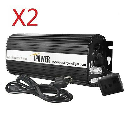 IPower 1000W Digital Dimmable Electronic Ballast For HPS MH Grow Light 2-Pack • 152.24£