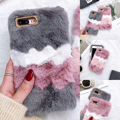 Soft Warm Plush Fluffy Phone Case Cover Comfy Faux Fur For Samsung IPhone Models • 5.99£