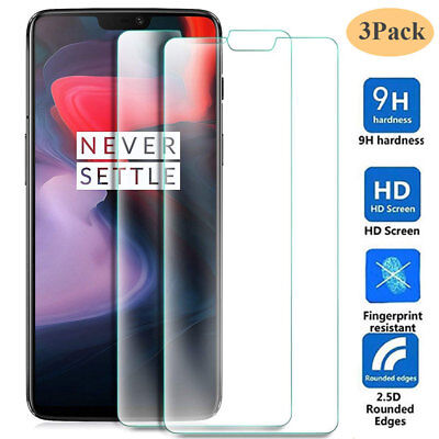 AU3.28 • Buy 3Pack 9H HD Tempered Glass Film Protector For One Plus 6 6T/5 5T/3T Screen Guard