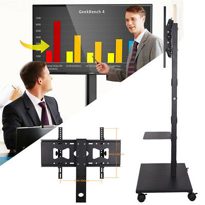 £53.96 • Buy Mobile TV Cart For 70  Flat Screen Panel Trolley Floor Stand With Locking Wheels