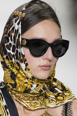 AU329.95 • Buy HOT NEW Genuine VERSACE TRIBUTE COLLECTION Black Gold Sunglasses VE 4353 GB1/87