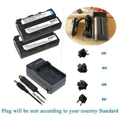 AU35.51 • Buy 2 NP-F570 Battery  +Charger For Sony F970 F950 NP-F770 F750 F730 NP-F550 NP-F330