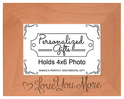 Boyfriend Love You More Engraved Natural Wood Frame • 16.24£
