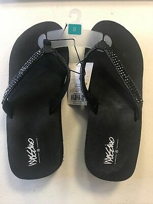 cabc7ee24e2c Women s Mossimo Rhinestone Wedge Flip Flop Sandals Size 8 NWT • 14.99