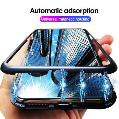 $4.49 • Buy For Xiaomi Redmi Note 8 7 Mi 9 K20 Magnetic Adsorption Metal Tempered Glass Case