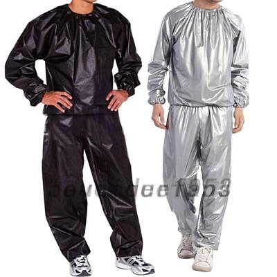 AU18.28 • Buy Sweat Track Sauna Suit Sports Fitness Slimming Boxing Exercise Training L-5XL